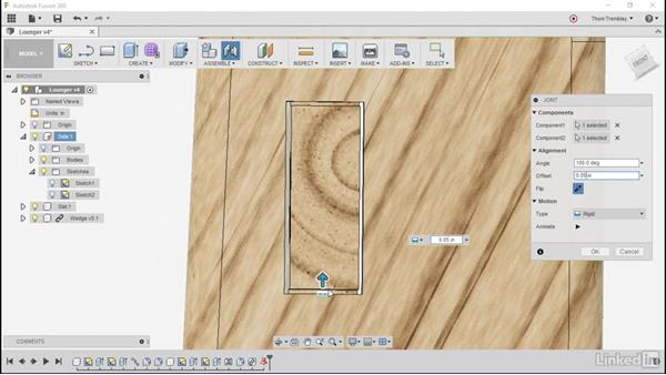 Using Joint tools: Autodesk Fusion 360: Designing for Wood