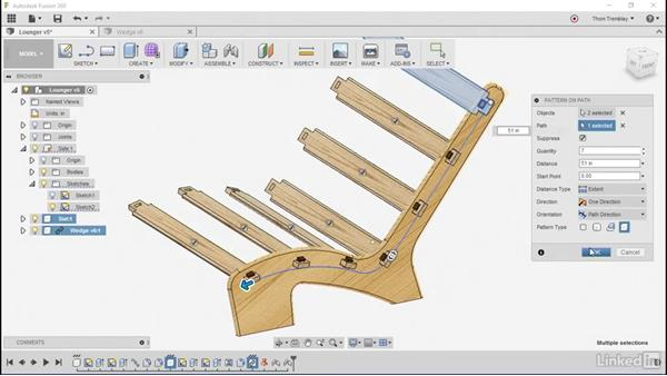 Reusing components: Autodesk Fusion 360: Designing for Wood