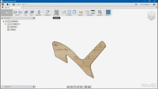 Setting up a part for cutting: Autodesk Fusion 360: Designing for Wood