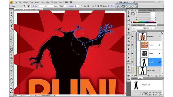 Liquify tool overview: Illustrator CS4 One-on-One: Mastery