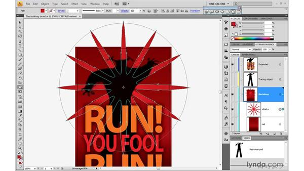Creating a crystallized starburst: Illustrator CS4 One-on-One: Mastery