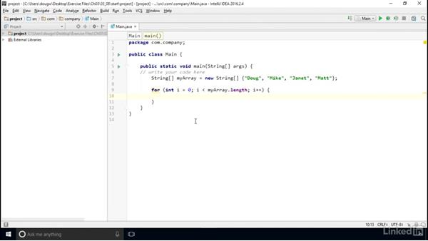 Use loops with arrays: Computer Science Principles Lab: Java