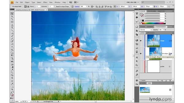 Releasing and applying a mesh: Illustrator CS4 One-on-One: Mastery