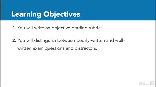 Course learning objectives: Create Effective Learning Assessments