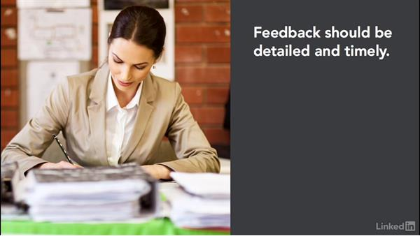 Personal assessment feedback: Create Effective Learning Assessments