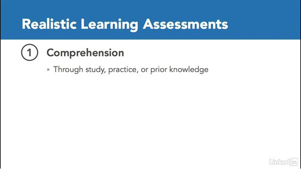 Make your assessment realistic: Create Effective Learning Assessments