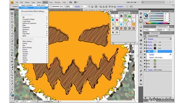 Pixel-based Photoshop effects: Illustrator CS4 One-on-One: Mastery