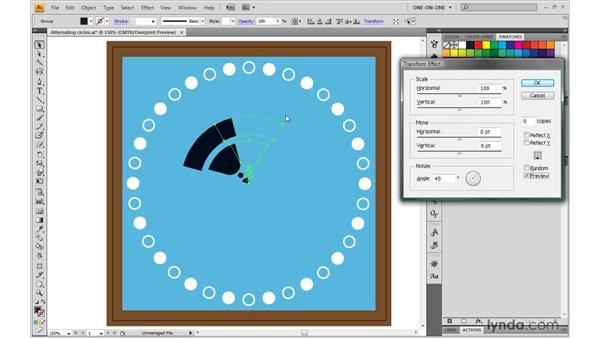 Introducing the Transform effect: Illustrator CS4 One-on-One: Mastery