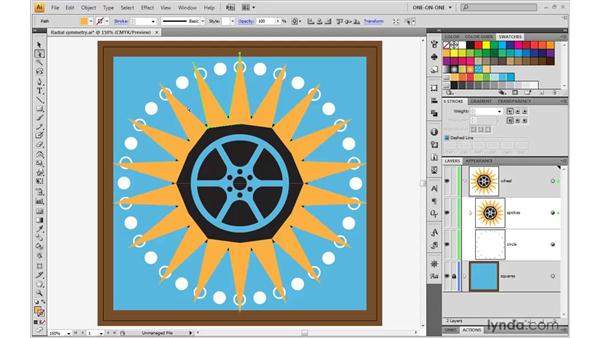 Wrapping one effect inside another: Illustrator CS4 One-on-One: Mastery