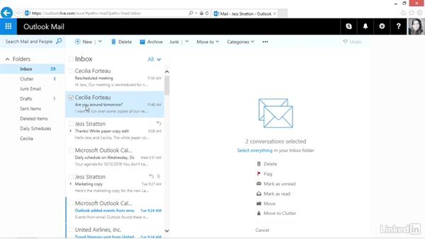 Organize mail into folders