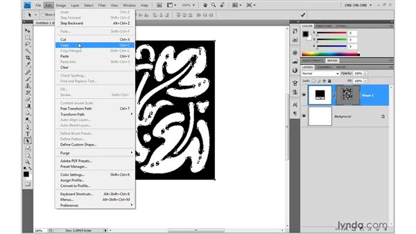 Importing a custom shape from Photoshop: Illustrator CS4 One-on-One: Mastery
