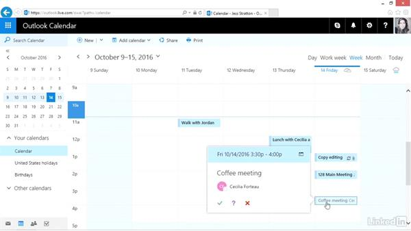 Invite others and use the Scheduling Assistant: Outlook.com Essential Training (2016)