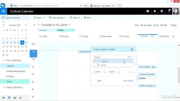 Create a secondary calendar: Outlook.com Essential Training (2016)