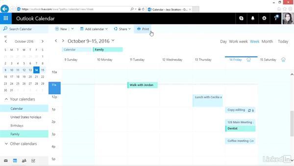 Share a calendar: Outlook.com Essential Training (2016)
