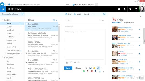 Use add-ins with Outlook.com: Outlook.com Essential Training (2016)