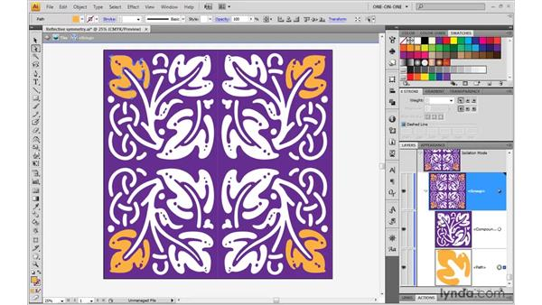 Exploiting the power of reflective symmetry: Illustrator CS4 One-on-One: Mastery