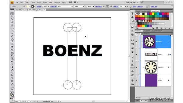 Creating a beveled stroke effect: Illustrator CS4 One-on-One: Mastery