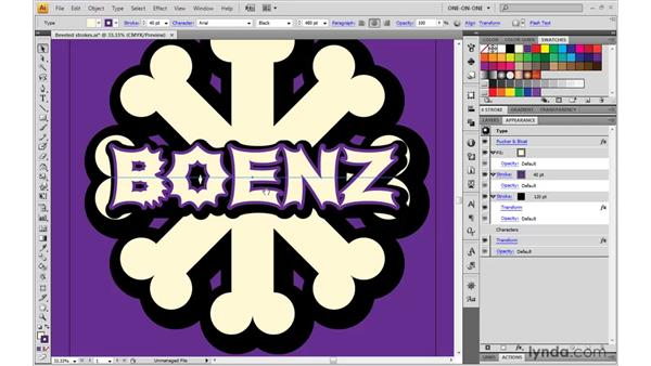 Adding the Pucker & Bloat effect: Illustrator CS4 One-on-One: Mastery