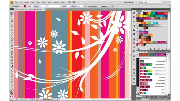 Using the Color Guide palette: Illustrator CS4 One-on-One: Mastery
