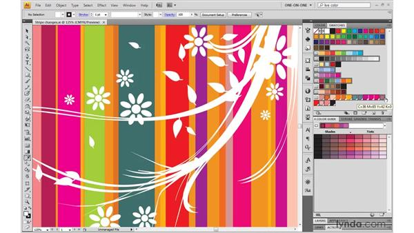 Adding and deleting swatches in a group: Illustrator CS4 One-on-One: Mastery