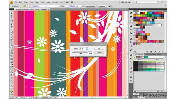 The Color Guide Variations options: Illustrator CS4 One-on-One: Mastery