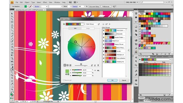 Using the Edit Colors dialog box: Illustrator CS4 One-on-One: Mastery