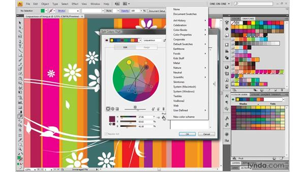 Limiting a color group to spot colors: Illustrator CS4 One-on-One: Mastery