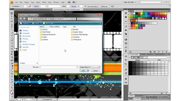 Transferring groups from one illustration to another: Illustrator CS4 One-on-One: Mastery
