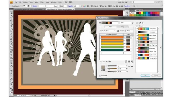 Using groups as color swapping tools: Illustrator CS4 One-on-One: Mastery