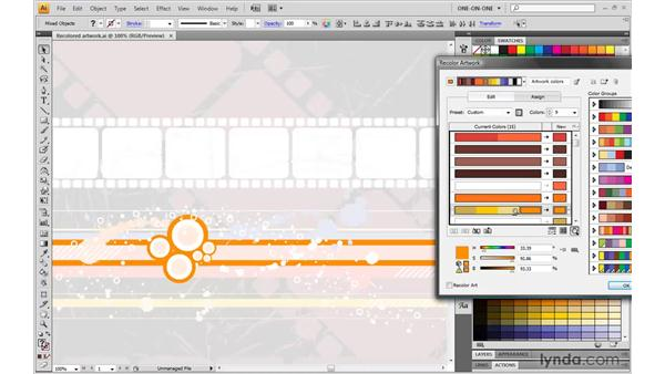 Reassigning colors in an illustration: Illustrator CS4 One-on-One: Mastery