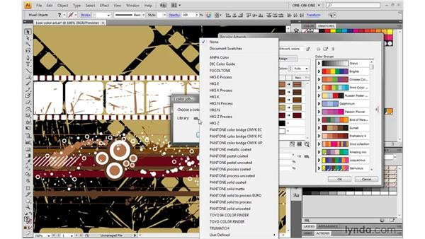 Distilling the perfect two-color print job: Illustrator CS4 One-on-One: Mastery
