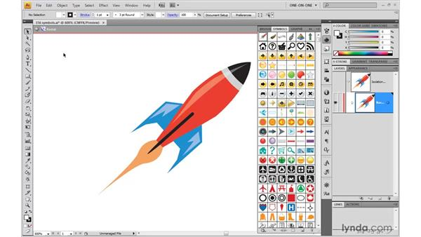Acquiring and previewing symbols: Illustrator CS4 One-on-One: Mastery