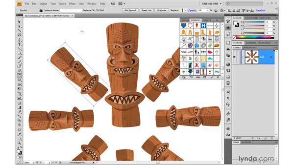Replicating a symbol and breaking the link: Illustrator CS4 One-on-One: Mastery