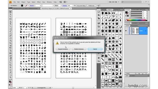 Mass-producing symbols: Illustrator CS4 One-on-One: Mastery