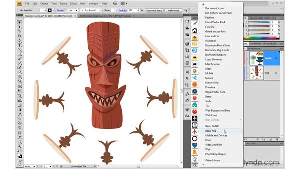 Loading an illustration as a symbol library: Illustrator CS4 One-on-One: Mastery