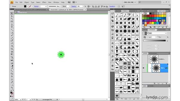 Selecting all instances of a symbol: Illustrator CS4 One-on-One: Mastery