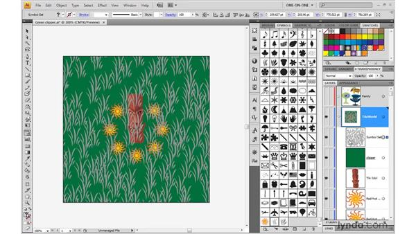 Laying down a symbol set: Illustrator CS4 One-on-One: Mastery