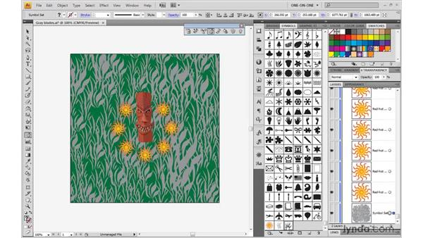 Painting with the symbolism tools: Illustrator CS4 One-on-One: Mastery