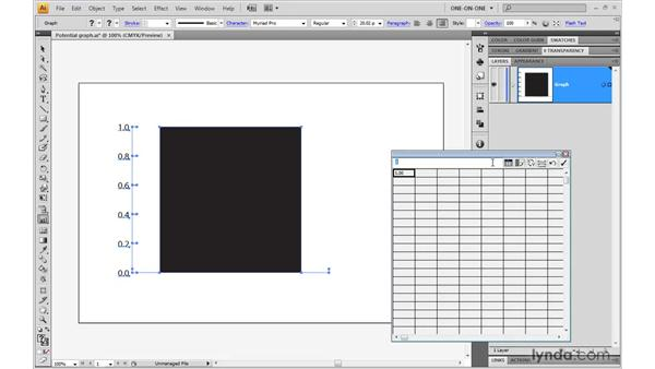 Importing and graphing data: Illustrator CS4 One-on-One: Mastery