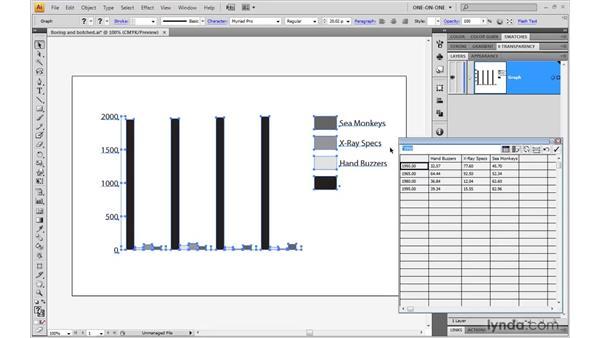 Correcting and editing data: Illustrator CS4 One-on-One: Mastery