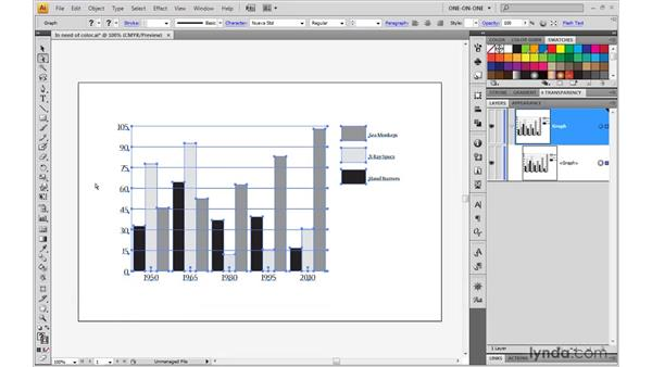 Changing font and color in a graph: Illustrator CS4 One-on-One: Mastery