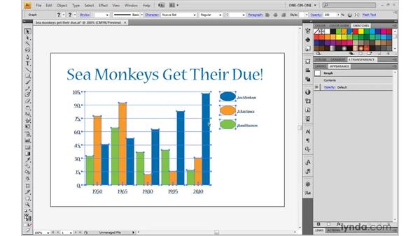 The downside of manual adjustments: Illustrator CS4 One-on-One: Mastery