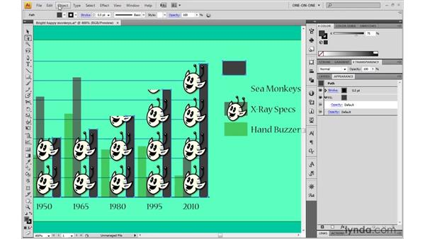 Mixing and matching graph types: Illustrator CS4 One-on-One: Mastery