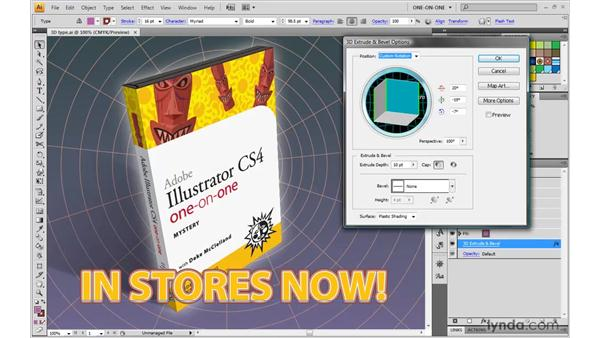 Customizing 3D type: Illustrator CS4 One-on-One: Mastery
