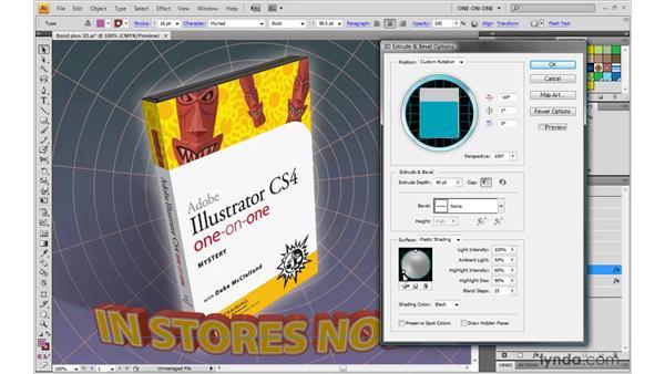 Adjusting angle and light: Illustrator CS4 One-on-One: Mastery