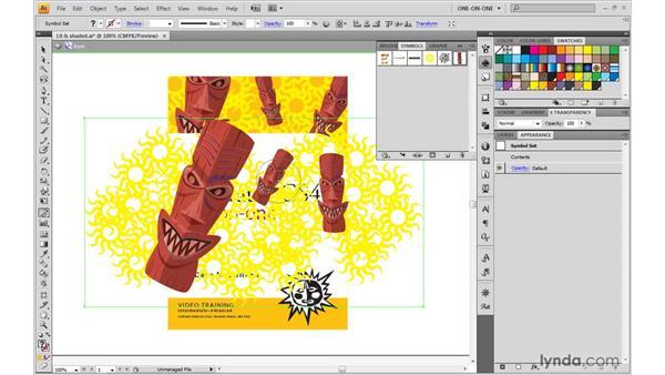 Creating symbols for mapped art: Illustrator CS4 One-on-One: Mastery