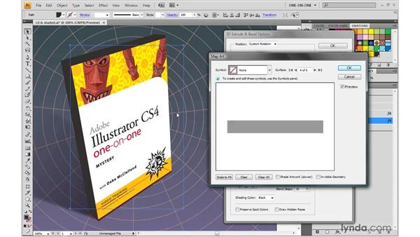 Mapping symbols onto a 3D object: Illustrator CS4 One-on-One: Mastery