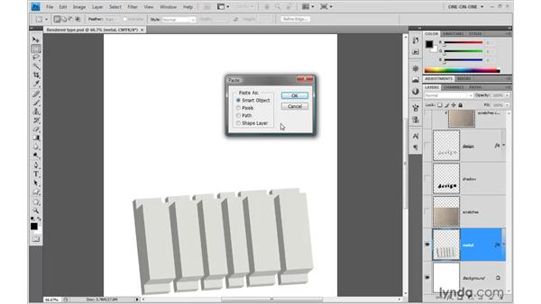 Roughing up your 3D art in Photoshop: Illustrator CS4 One-on-One: Mastery