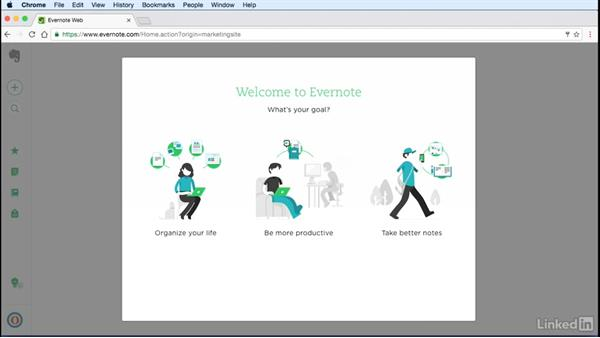 Sign up for an Evernote account: Evernote for Students