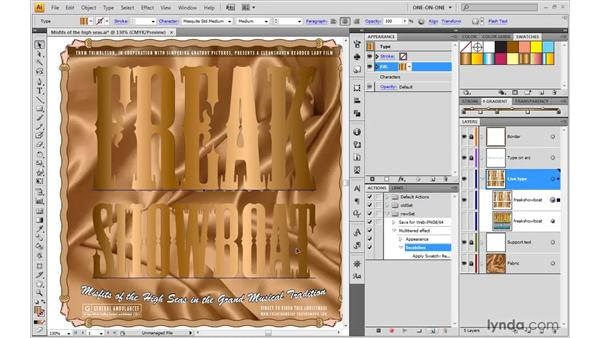 Recording a creative action: Illustrator CS4 One-on-One: Mastery